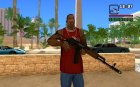 New AK-47 for GTA San Andreas left view