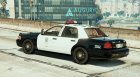 Crown Victoria Police with Default Lightbars для GTA 5 вид слева