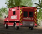 Ambulance - Metro Fire Ambulance 69 для GTA San Andreas вид сбоку
