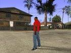 CJ в футболке (K Rose) для GTA San Andreas вид сверху