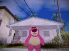 Lotso Bear (Toy Story 3) for GTA San Andreas rear-left view