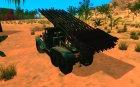 ЗИС-6 С ракетной установкой БM13 для GTA San Andreas вид сзади слева