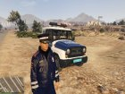 Russian Traffic Officer Dark Blue Jacket for GTA 5 top view