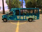 Vinewood VIP Star Tour Bus из GTA V для GTA San Andreas вид слева