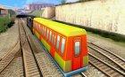 Пассажирский поезд 1 из Subway Surfers для GTA San Andreas вид сзади слева