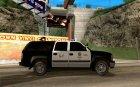 Chevrolet Suburban Los Angeles Police для GTA San Andreas вид изнутри