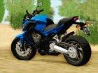 Honda CB650F Azul for GTA San Andreas rear-left view
