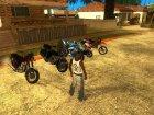 Пак мотоциклов и велосипедов by Babayka v.2 для GTA San Andreas вид изнутри