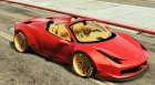 Ferrari 458 Italia Spider (LibertyWalk) for GTA 5 top view