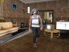 Skin HD GTA V Online в маске Енота v2 для GTA San Andreas вид слева