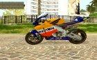 Honda Repsol Rossi для GTA San Andreas вид сзади слева