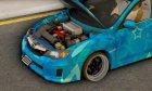 Subaru Impreza Blue Star for GTA San Andreas right view