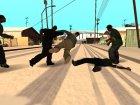 Разные стили борьбы актёров для GTA San Andreas вид сбоку