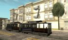 The tram is white with blue stripes for GTA San Andreas side view