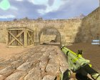 M4A1 Asiimov Lime из CS:GO for Counter-Strike 1.6 rear-left view