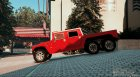 Hummer H1 6X6 for GTA 5 left view