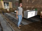 Skin HD GTA V Online парень с усиками for GTA San Andreas side view