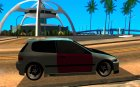 Honda Civic Hellaflush для GTA San Andreas вид изнутри