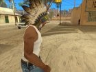Роуч - головной убор индейца для GTA San Andreas вид слева