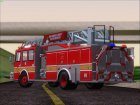 E-One Quint Rearmount SACFD Ladder 49 для GTA San Andreas вид сзади слева