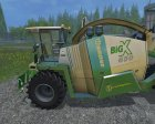 Krone Big X 650 Cargo for Farming Simulator 2015 top view