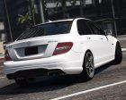 Mercedes-Benz C63 AMG W204 2011 v1.4 for GTA 5 rear-left view
