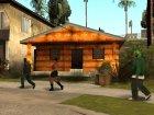 Новые текстуры домов по всему Грув Стриту for GTA San Andreas rear-left view