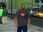 HD CJ Dark T-Shirt 2016 for GTA San Andreas rear-left view