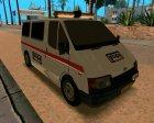 Ford Transit Security для GTA San Andreas вид сзади слева