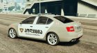 Skoda Octavia GEORGIA POLICE для GTA 5 вид слева