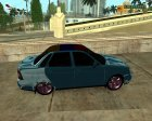 Lada Priora for GTA San Andreas rear-left view