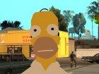 Гомер Симпсон для GTA San Andreas вид сверху