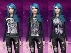 Skull and skeleton long sleeve shirts для Sims 4 вид слева