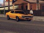1972 Plymouth GTX for GTA San Andreas top view