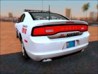2013 Dodge Charger Red County sheriff's office для GTA San Andreas вид сзади слева