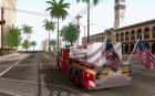 Seagrave Marauder. F.D.N.Y. Tower Ladder 186 для GTA San Andreas вид сзади слева