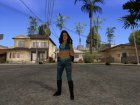 Melina WWE for GTA San Andreas rear-left view