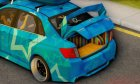 Subaru Impreza Blue Star for GTA San Andreas back view