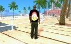 Футболка Осетия для GTA San Andreas вид сзади слева