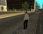 Скин somybu в белом для GTA San Andreas вид сзади слева