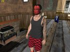 Skin HD Random GTA V Online Red Mask for GTA San Andreas top view