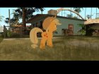 Applejack (My Little Pony) for GTA San Andreas rear-left view