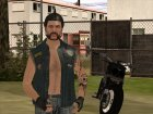 Biker from GTA Online для GTA San Andreas вид сзади слева