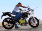 Yamaha Vixion Advance Lominous White для GTA San Andreas вид справа