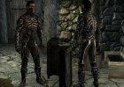 Новая легкая броня Темного братства для TES V Skyrim вид сзади слева