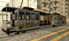Tram with the logo of the website gamemodding.net для GTA San Andreas вид изнутри