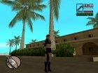 Джилл в короткой чёрной одежде для GTA San Andreas вид слева