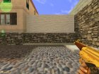 Gold MP-5 for Counter-Strike 1.6 rear-left view