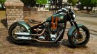 Harley Davidson Fat Boy Lo Racing Bobber для GTA 4 вид слева