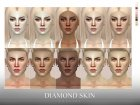 Diamond Skin Female для Sims 4 вид слева